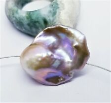 UNIQUE GOLDEN PURPLE KESHI TAIL FLAMEBALL NUCLEATED PEARL 26mm 6gr FABULOUS