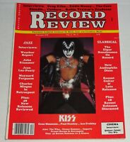 KISS Gene Simmons Record Review Magazine Dec 1978 Aucoin Blondie The Who Cars