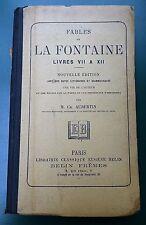 LIVRE de 1925 FABLES DE LA FONTAINE