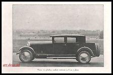 Publicité  Voisin Conduite intérieure 12 cyl.  car vintage photo ad 1924 -1j