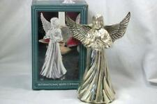 """International Silver 1996 Angel Candle Holder Silver Plate 6"""""""