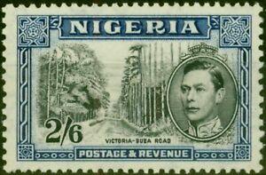Nigeria 1938 2s6d Black & Blue SG58 P.13 x 11.5 Fine Lightly Mtd Mint (2)