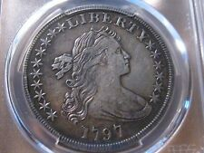 1797 Small Eagle 10/6 Stars  Draped Bust  Dollar / PCGS XF Details
