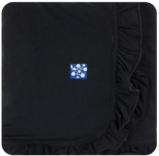 Kickee Pants Ruffle Stroller Blanket in Solid Midnight