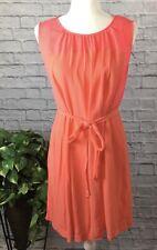 Madewell Dress Size S Small Sleeveless Bungalow Shift Dress Pink Orange