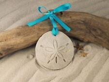DESTIN  Sand Dollar Made with Sand Florida Tropical Beach Ornament