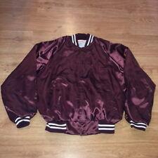 VTG Polygon Wax Maroon Satin Jacket Hartwell Mens Large