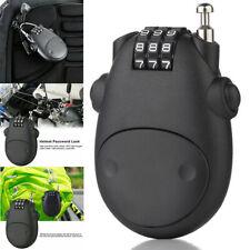 New US Anti-theft Lock Motorcycle Helmet Cable Steel Retractable Combination