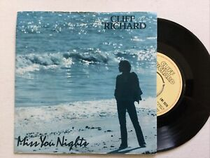 """Cliff Richard: Miss You Nights / Love enough : Picture sleeve 7"""" Vinyl Single.."""