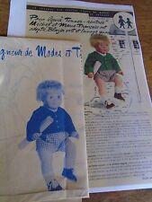 """T3 PATRON POUPEE  MICHEL"""" M & TRAVAUX"""" BLAZER ET CULOTTE 1965"""