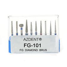1 Box Dental Diamond Burs Drills Set FG-101 10Pcs/Box for High Speed Handpiece