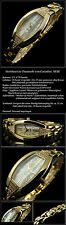 Ladies Luxury Cavadini Oval Women's Watch Cute & HUEBSH with cz-stein Inset NEW