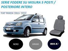 SET FODERE COPRISEDILI SU MISURA FIAT PANDA 2003-2011 COLORE BLU 5 POSTI