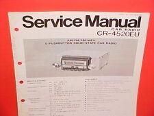 PANASONIC CAR AUTO AM-FM-MPX RADIO FACTORY SERVICE SHOP REPAIR MANUAL CR-4520EU