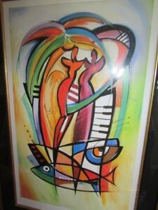 Alfred Gockel Gallery Art Seriolithograph Rhythm In The Tropics Signed 2009