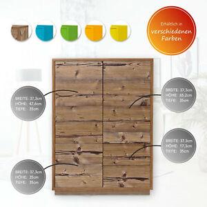 AILEENSTORE Highboard Kommode Sideboard Anrichte Push-To-Open - Wohnzimmer-Möbel