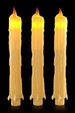 LED Kerzen - 3er Set - Beige - Fantasy Gothic Kunstkerzen Deko