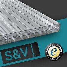 Longlife Doppelstegplatten Stegplatten 16mm klar farblos X-Struktur Muster