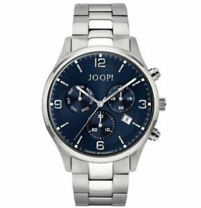 JOOP Herrenuhr Armbanduhr Chronograph Edelstahl silber 4056874013635 Ronda NEU