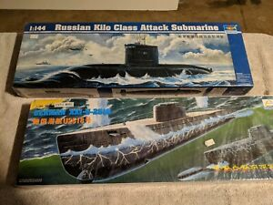Lot 407 - 2  Submarines Kilo Class and U-2518-1/144 Scale - Trumpeter, Minihobby