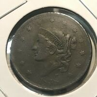 1838 UNITED STATES LARGE CENT CORONET HEAD HIGHER GRADE