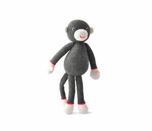 Gray Monkey Handmade Amigurumi Stuffed Toy Knit Crochet Doll VAC