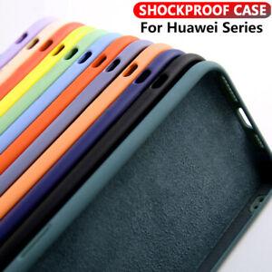 Liquid Silicone Phone Case For Huawei P40 P30 Lite P20 Pro Nova 5T Soft Cover