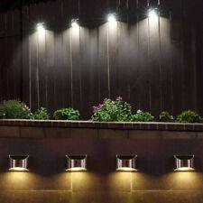 4/8X Led Luzes De Parede Cerca Solar Jardim Segurança Ao Ar Livre Post Passo lâmpada Elegante