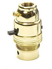 """Switched Brass Lampholder B.C. 1/2"""" Screw Entry LAC2588 Quality Product"""