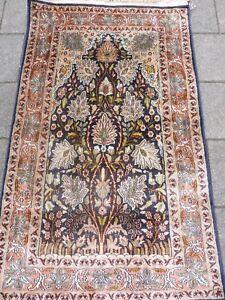 Belle, vieux, Fin Oriental Kaschmirseide__125cm x 75cm __ Tapis de Mur