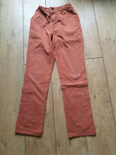 F&F TROUSERS AGE 12 - 13 YEARS - RUST WITH ADJUSTABLE WAIST