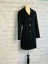 Kenneth Cole Reaction Black Wool Blend Button Coat Women Size 6