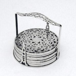 """Vintage Webster Sterling Silver 3/"""" Coaster Very Fine Barware//Tableware ~per item"""