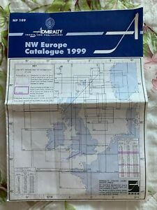 Admiralty Charts & Publications fold-out map showing NW Europe catalogue for 199