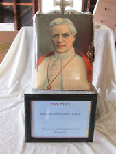 Vintage Pope Pius X small altar and photo album