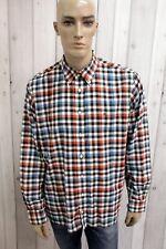 Camicia TOMMY HILFIGER Uomo Taglia XL Cotone Shirt Chemise Casual Manica Lunga