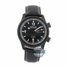 Bremont U-2 Auto 43mm DLC Steel Mens Strap Watch Day Date Tang U-2/DLC
