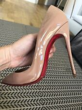CHRISTIAN LOUBOUTIN So Kate 120mm Pumps Patent Leather Nude Size 38 1/2