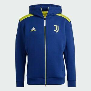 adidas Juventus Z.N.E. Anthem Jacket - Medium Blue / White - Brand New With Tag