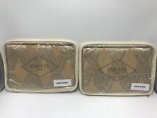 FRETTE Square Lux Tatto Diamond Euro Sham 065B $475 each Two