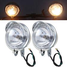 Chrome Passing Fog Lights Fit Honda VTX 1300 C R S RETRO Cafe Racer Cruiser