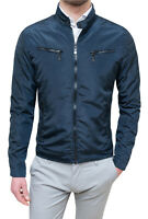 Giubbotto giacca uomo Diamond casual blu scuro primavera estate slim fit