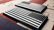 2 x US American Flag Decal Sticker Emblem for Car Truck Auto SUV Metal Chrome