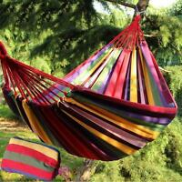 Double Person Hammock Garden Outdoor Travel Camping Canvas Hanging Sleep Swing