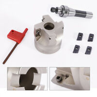 4Pcs APMT1604 Carbide Inserts + 400R 50MM Face End Mill Cutter +1 Wrench