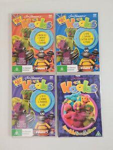 The Hoobs Jim Hensons OOP Muppet DVDs x 4 Hooble Toodle Doo + Volume 1 & 5 Discs