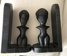 African Hand-carved Hardwood  Bookends