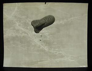 Fotografía Rosières-en-santerre 1916 Globo Zeppelin Dirigible Militar?