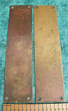 2 X RECLAIMED SOLID BRONZE / BRASS DOOR FINGER PLATES (3)