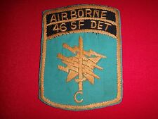 Hand Made Patch Detachment C 46th Special Forces Company AIRBORNE In Thailand